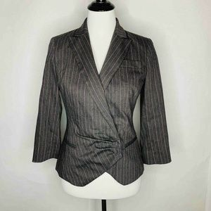 Etcetera Blazer Gray Pinstripe Notch Lapel 2
